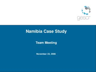 Namibia Case Study  Team Meeting