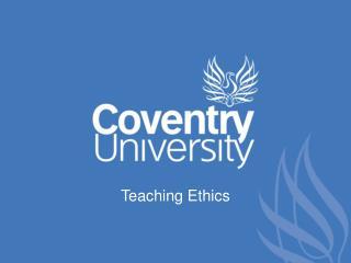 Teaching Ethics