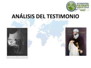 ANÁLISIS DEL TESTIMONIO