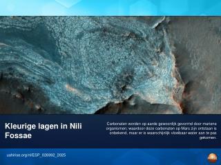 Kleurige lagen in Nili Fossae