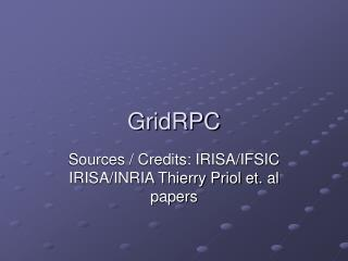 GridRPC