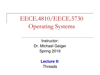 Operating Systems Lecture 6