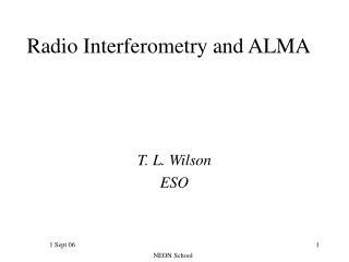 Radio Interferometry and ALMA