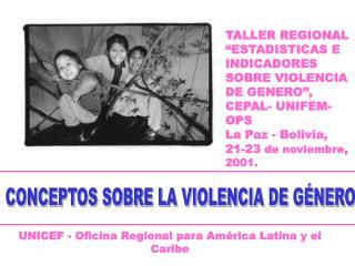 CONCEPTOS SOBRE LA VIOLENCIA DE GÉNERO