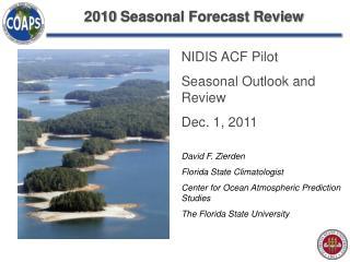 2010 Seasonal Forecast Review