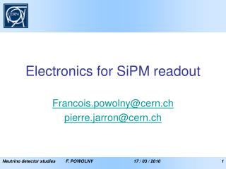 Electronics for SiPM readout