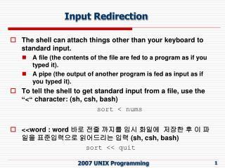 Input Redirection