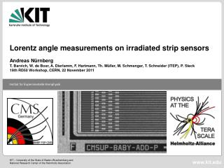 Lorentz angle measurements on irradiated strip sensors