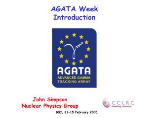 AGATA Week Introduction