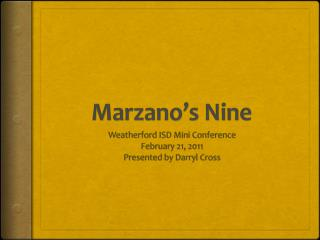 Marzano's  Nine