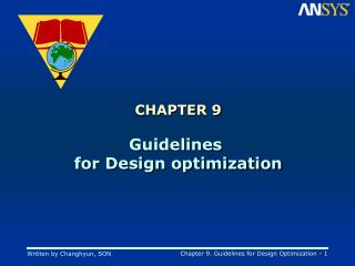 CHAPTER 9 Guidelines  for Design optimization