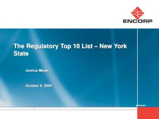 The Regulatory Top 10 List – New York State