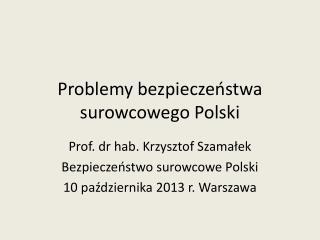 Problemy bezpieczeństwa surowcowego Polski
