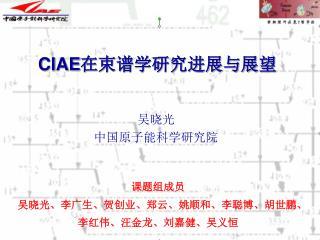 CIAE 在束谱学研究进展与展望