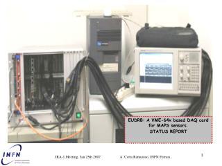 EUDRB:  A VME-64x based DAQ card for MAPS sensors. STATUS REPORT