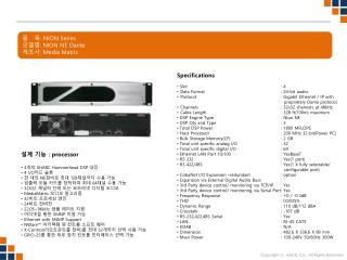 품   목 :  NION Series 모델명 :  NION NE Dante 제조사 : Media Matrix