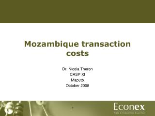 Mozambique transaction costs