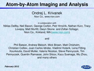 Atom-by-Atom Imaging and Analysis