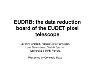 EUDRB: the data reduction board of the EUDET pixel telescope