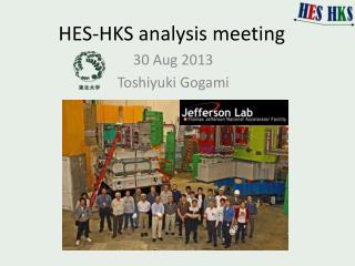 HES-HKS analysis meeting