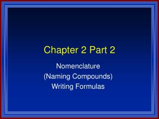 Chapter 2 Part 2