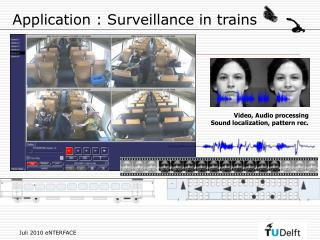 Application : Surveillance in trains