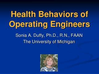 Health Behaviors of Operating Engineers
