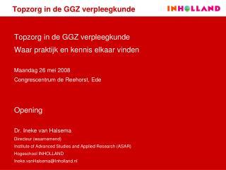 Topzorg in de GGZ verpleegkunde