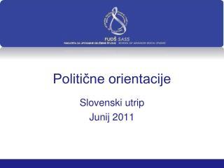 Politične orientacije