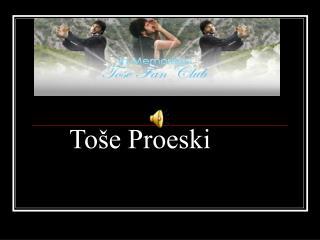 Toše Proeski
