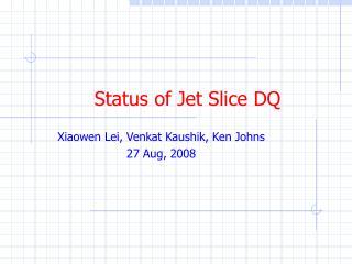 Status of Jet Slice DQ