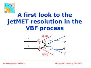 A first look to the jetMET resolution in the VBF process