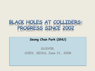 Black Holes at colliders: progress since 2002