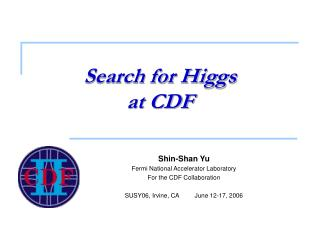 Search for Higgs  at CDF