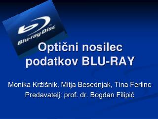 Optični nosilec podatkov BLU-RAY