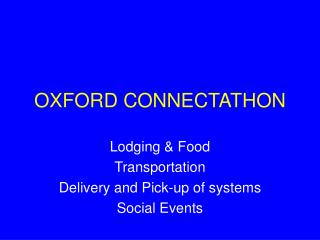 OXFORD CONNECTATHON