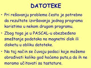 DATOTEKE
