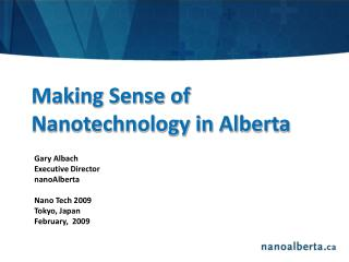 Making Sense of Nanotechnology in Alberta