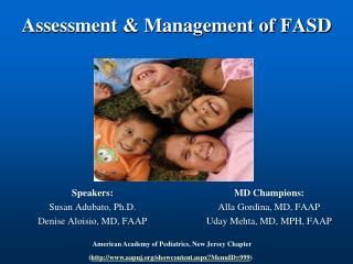 Assessment & Management of FASD