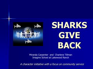 SHARKS GIVE BACK