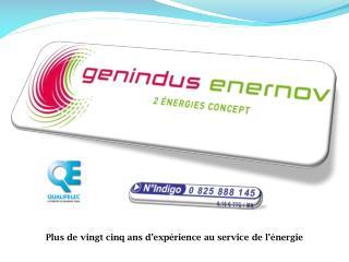 Plus de vingt cinq ans d'expérience au service de l'énergie