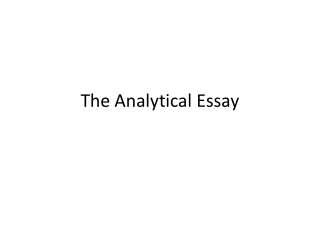 Writing a Structured Persuasive Essay __________________________________________________________________________________