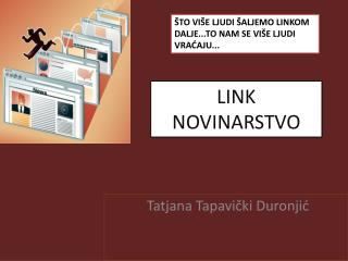 LINK  NOVINARSTVO