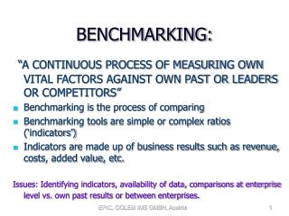 BENCHMARKING:
