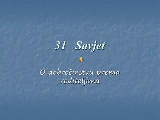 31   Savjet
