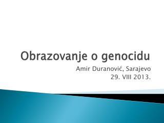 Obrazovanje o genocidu
