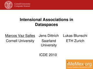 Intensional Associations in Dataspaces