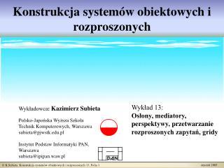 Konstrukcja systemów obiektowych i rozproszonych