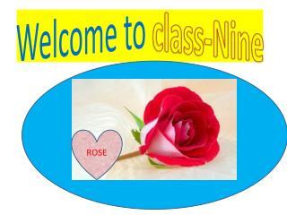 Welcome to  class-Nine