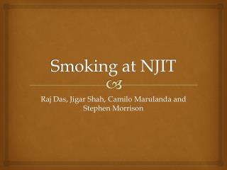Smoking at NJIT